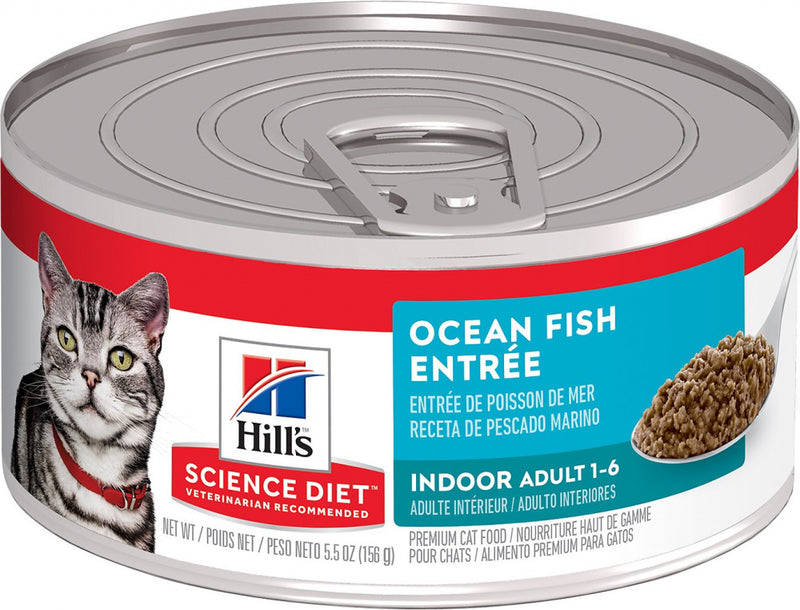 Hill's Science Diet Adult Indoor Ocean Fish Entree Canned Cat Food