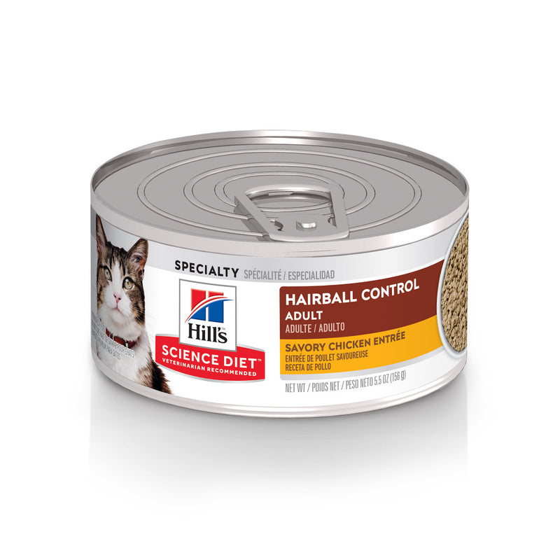 Hill's Science Diet Adult Hairball Control Savory Chicken Entree Canned Cat Food