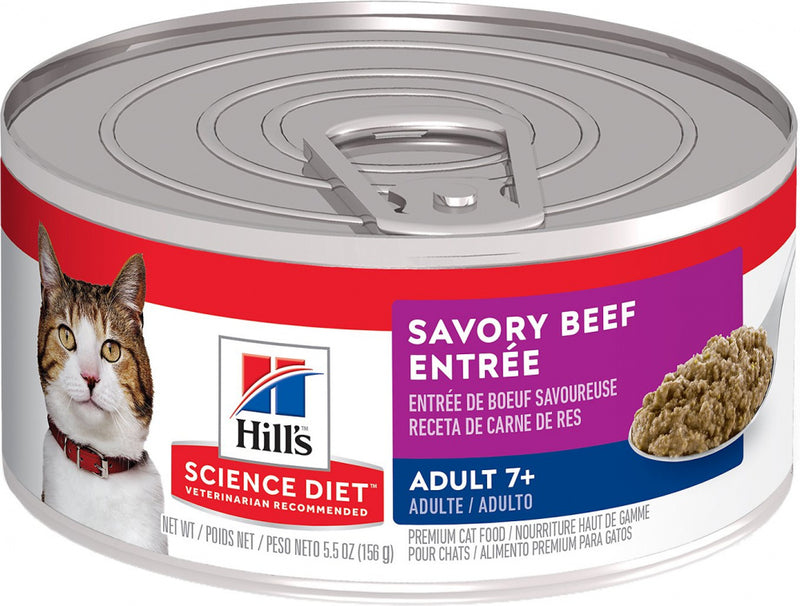 Hill's Science Diet Adult 7+ Savory Beef Entree Canned Cat Food