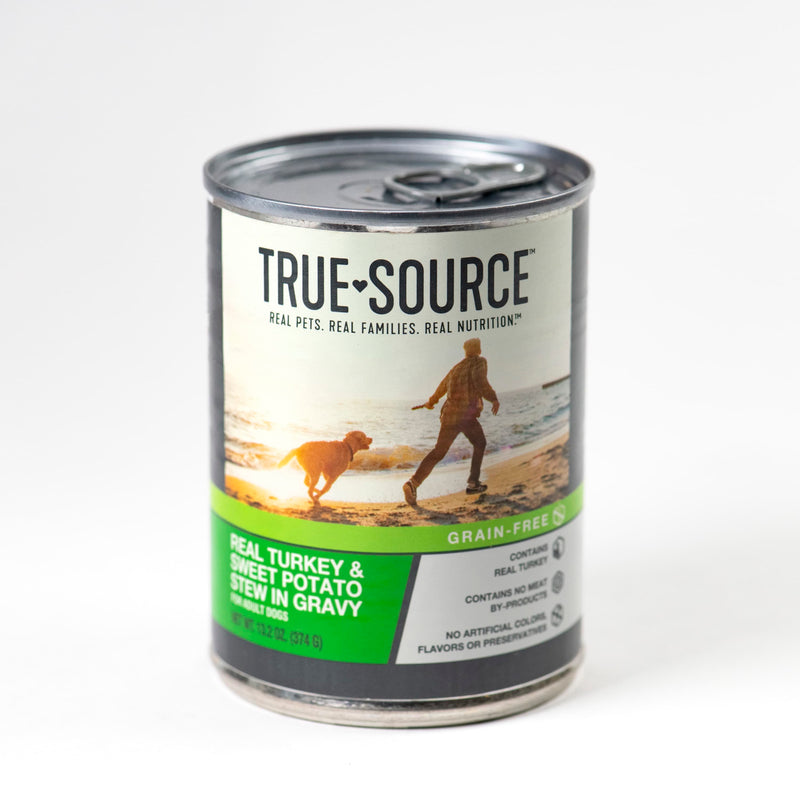 True Source Grain-Free Turkey & Sweet Potato Stew in Gravy, 13.2 oz. Can.