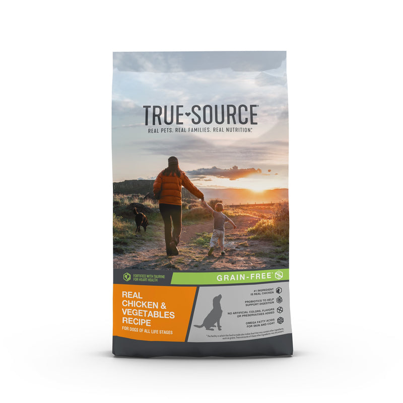 True Source Grain Free Chicken & Vegetables Formula Adult Dog Food, 4 lb. Bag