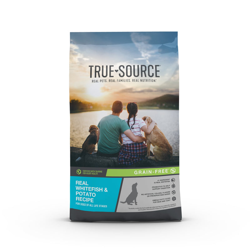 True Source Grain Free Whitefish & Potato Formula Dog Food, 30 lb. Bag
