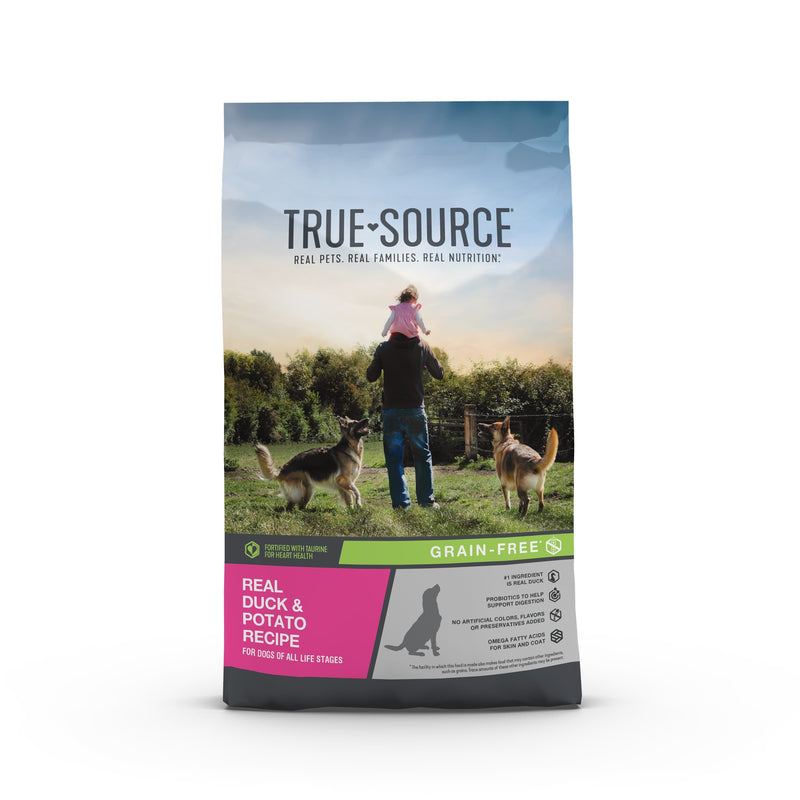 True Source Grain Free Duck & Potato Formula Dog Food, 4 lb. Bag
