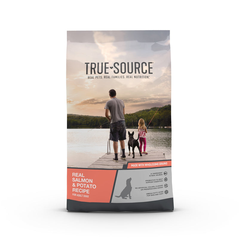 True Source Original Salmon & Potato Formula Adult Dog Food, 35 lb. Bag