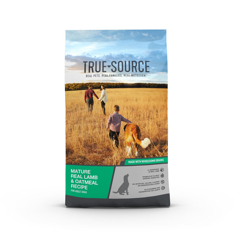 True Source Original Mature Adult Formula for Adult Dogs 7+ Years of Age Dog Food, 5 lb. Bag