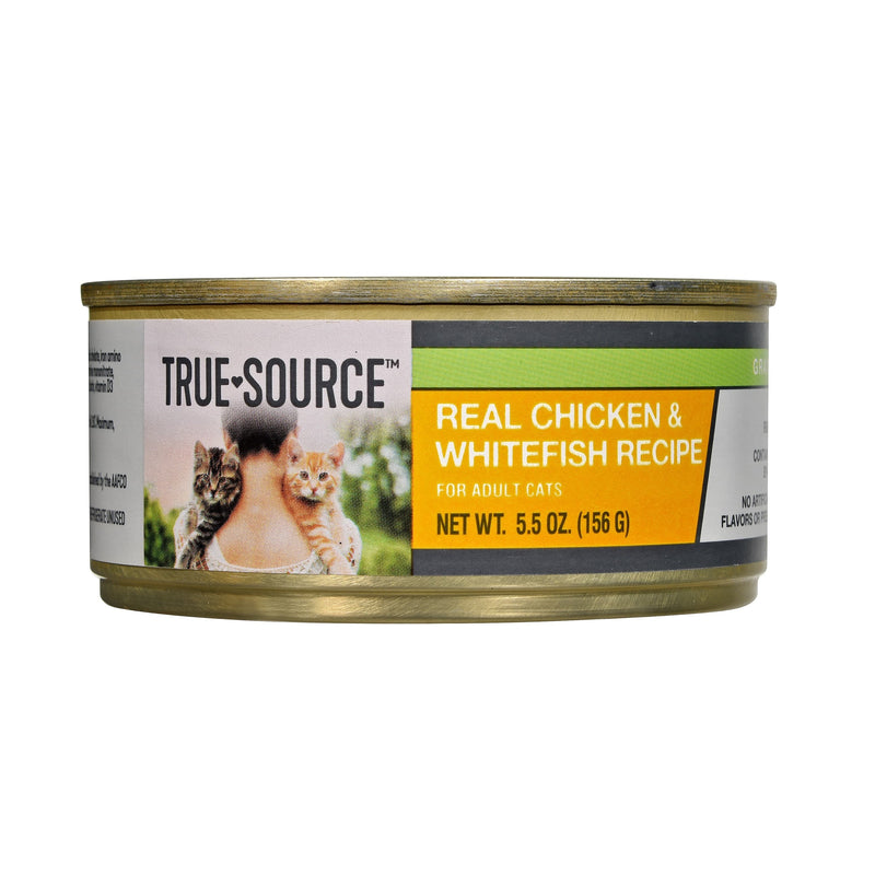 True Source Grain Free Chicken & Whitefish Dinner for Cats, 5.5 oz. Can