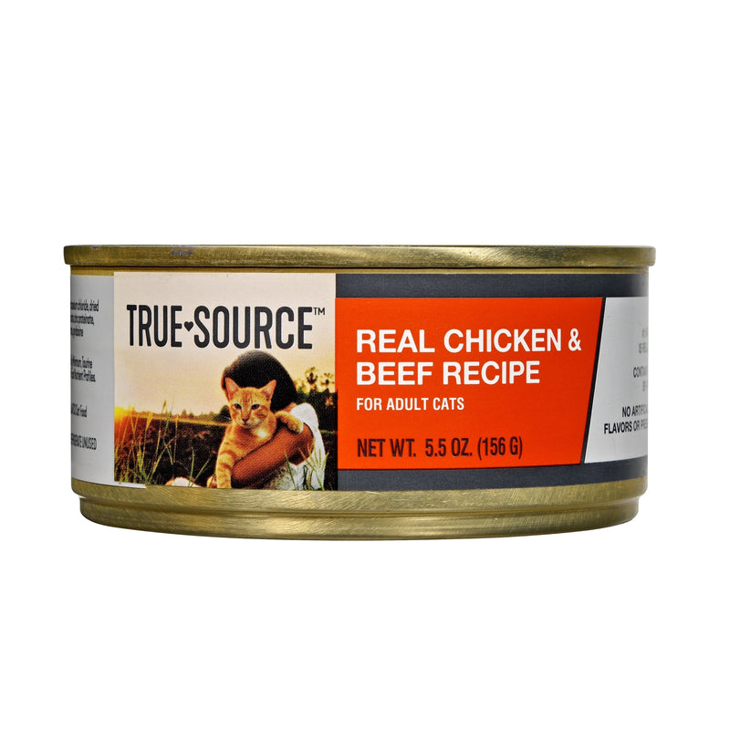 True Source Original Cat Chicken & Beef Dinner Cat Food, 5.5 oz. Can