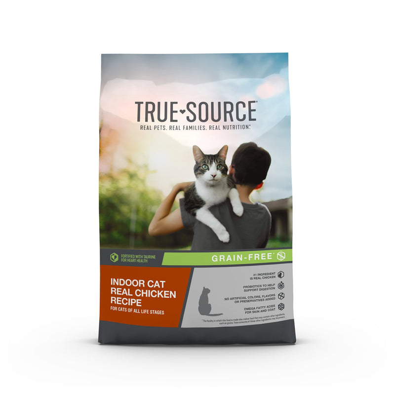 True Source Grain Free Indoor Cat Formula for Adult Cats, 4 lb. Bag