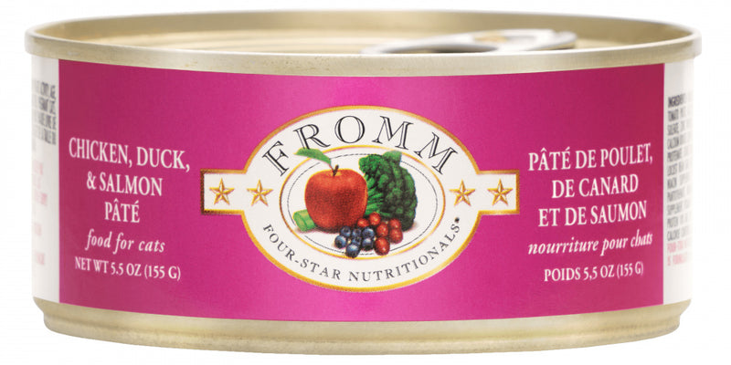 Fromm Four Star Chicken, Duck & Salmon Pate Canned Cat Food