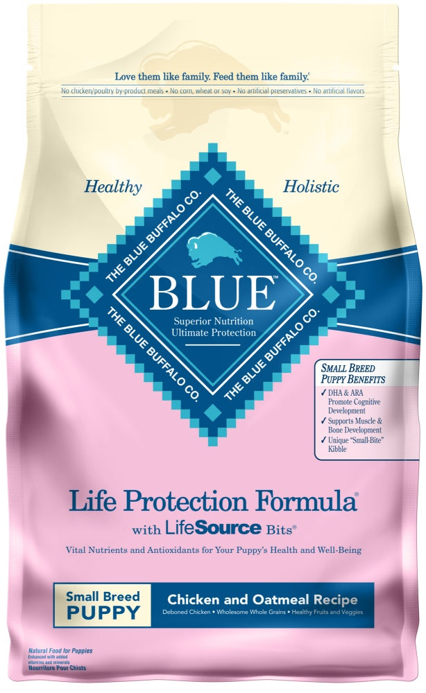 Blue Buffalo Life Protection Natural Chicken & Oatmeal Recipe Small Breed Puppy Dry Dog Food