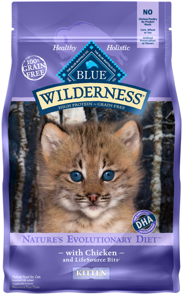 Blue Buffalo Wilderness Grain Free Kitten Chicken Recipe Dry Food