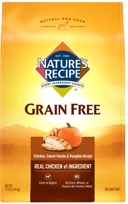 Nature's Recipe Grain Free Chicken, Sweet Potato and Pumpkin Dry Dog Food
