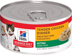 Hill's Science Diet Kitten Tender Chicken Dinner Canned Cat Food