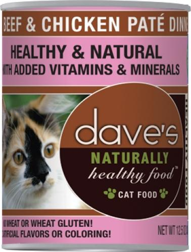 Dave's Naturally Healthy Beef and Chicken Canned Cat Food