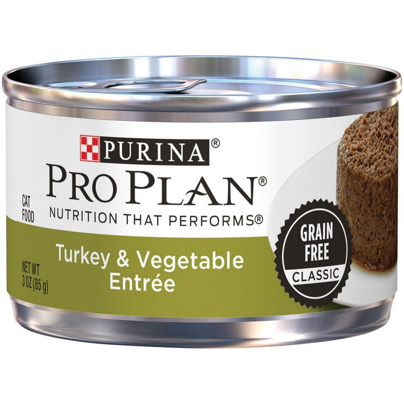 Purina Pro Plan Savor Adult Grain Free Turkey and Vegetable Entree Classic Canned Cat Food