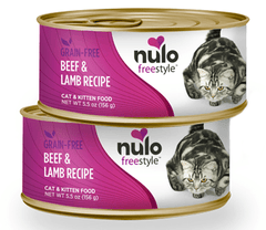Nulo FreeStyle Grain Free Beef and Lamb Recipe Canned Kitten and Cat Food