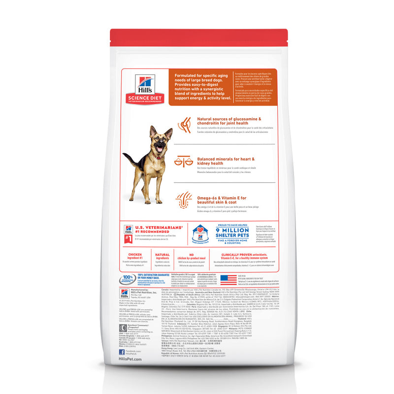 Hill's Science Diet Adult 6+ Large Breed Chicken Meal, Rice, & Barley Recipe Dry Dog Food