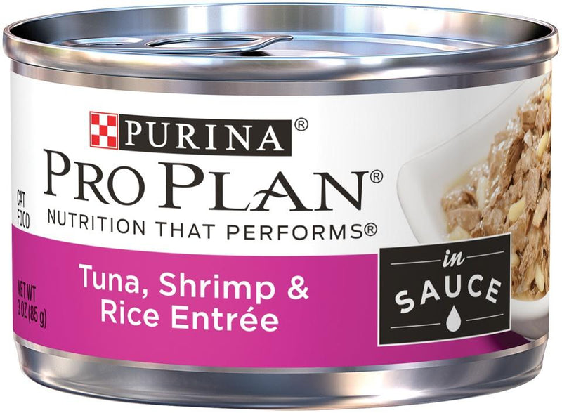 Purina Pro Plan Savor Adult Tuna, Shrimp & Rice in Sauce Entree Canned Cat Food