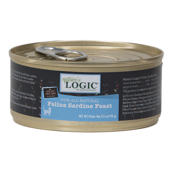 Nature's Logic Grain Free Feline Sardine Feast Canned Cat Food
