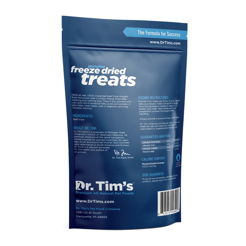 Dr. Tim's Freeze Dried Clean Tripe Dog and Cat Treats
