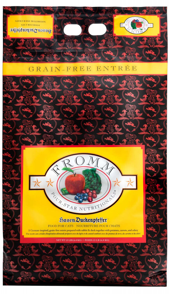 Fromm Four Star Grain Free Hasen Duckenpfeffer Dry Cat Food