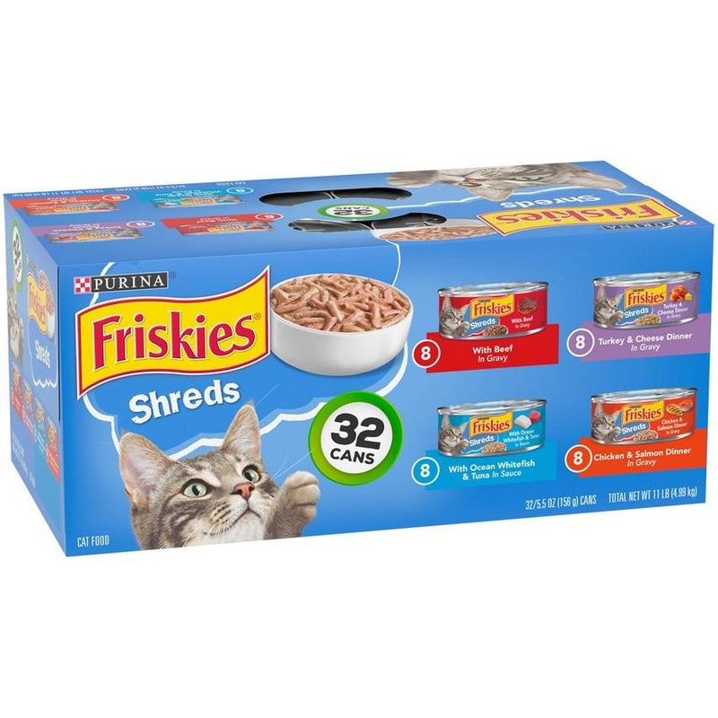 Friskies Shreds Variety Pack Canned Cat Food