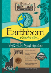 Earthborn Holistic Grain Free Oven Baked Biscuits Whitefish Meal Recipe Dog Treats