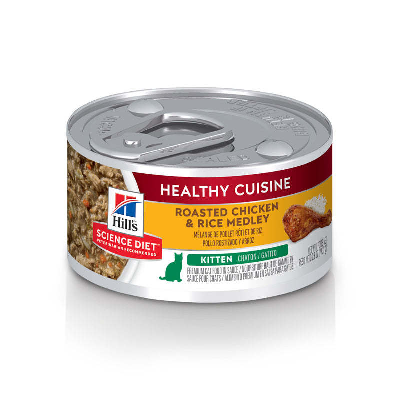 Hill's Science Diet Healthy Cuisine Kitten Roasted Chicken & Rice Medley Canned Cat Food