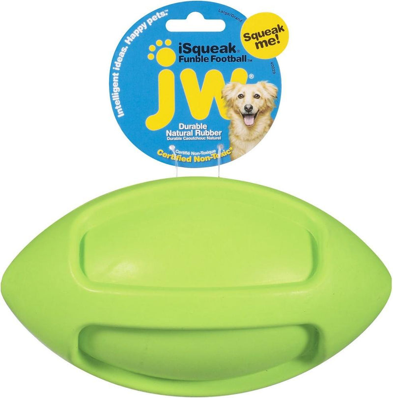 JW Pet iSqueak Funble Football Dog Toy