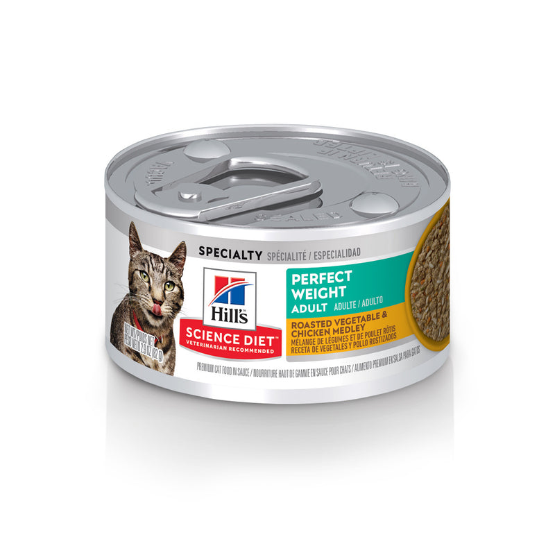 Hill's Science Diet Adult Perfect Weight Chicken & Vegetable Stew Canned Cat Food