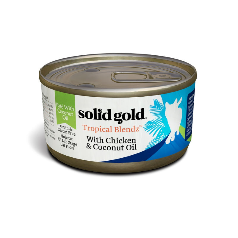 Solid Gold Tropical Blendz Grain Free Pate with Chicken & Coconut Oil Canned Cat Food