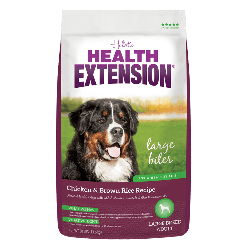 Health Extension Chicken & Brown Rice Large Bites Dry Dog Food