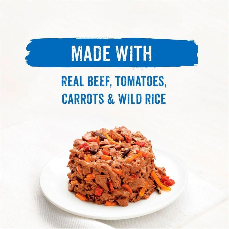 Beneful IncrediBites for Small Dogs with Beef, Tomatoes, Carrots and Wild Rice Canned Dog Food