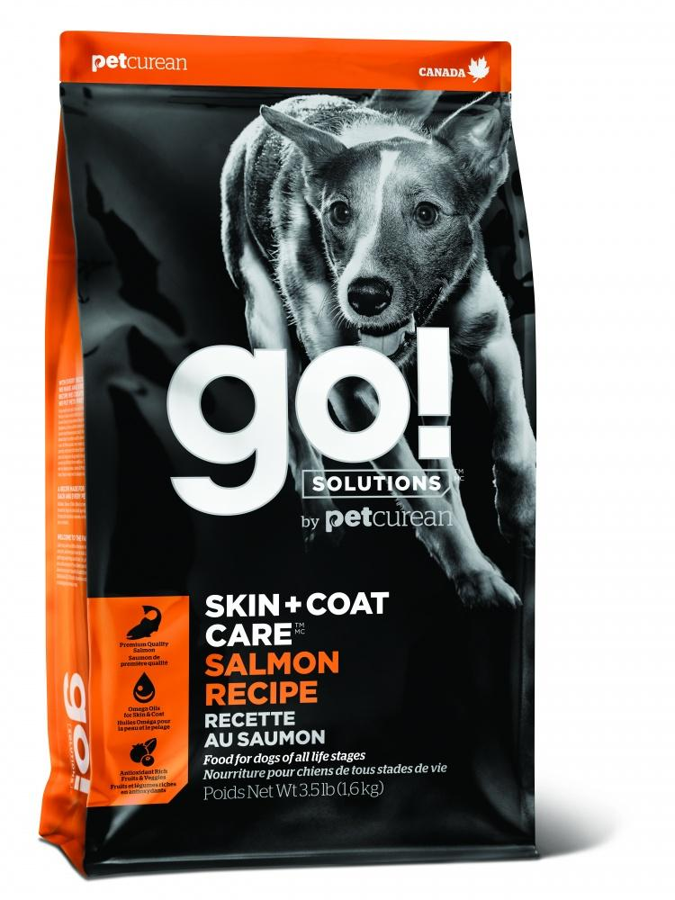 Petcurean Go! Solutions Skin + Coat Care Salmon Recipe Dry Dog Food