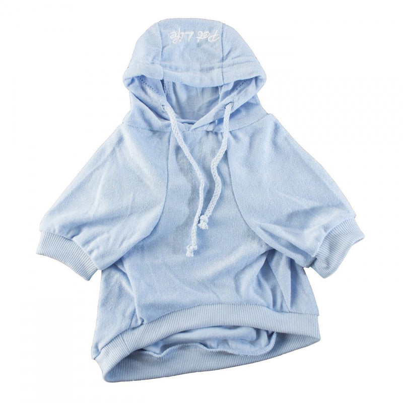 Pet Life Blue French Terry Cotton Dog Hoodie