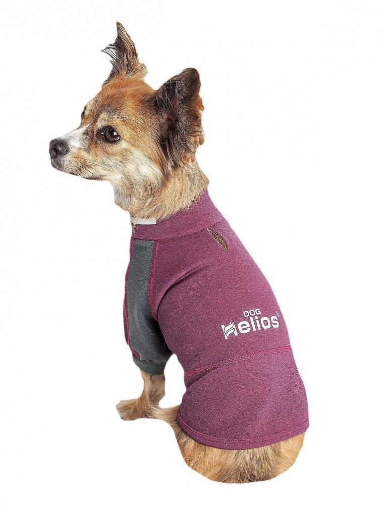 Pet Life Dog Helios Eboneflow Purple Flexible Performance Breathable Yoga Dog T-Shirt