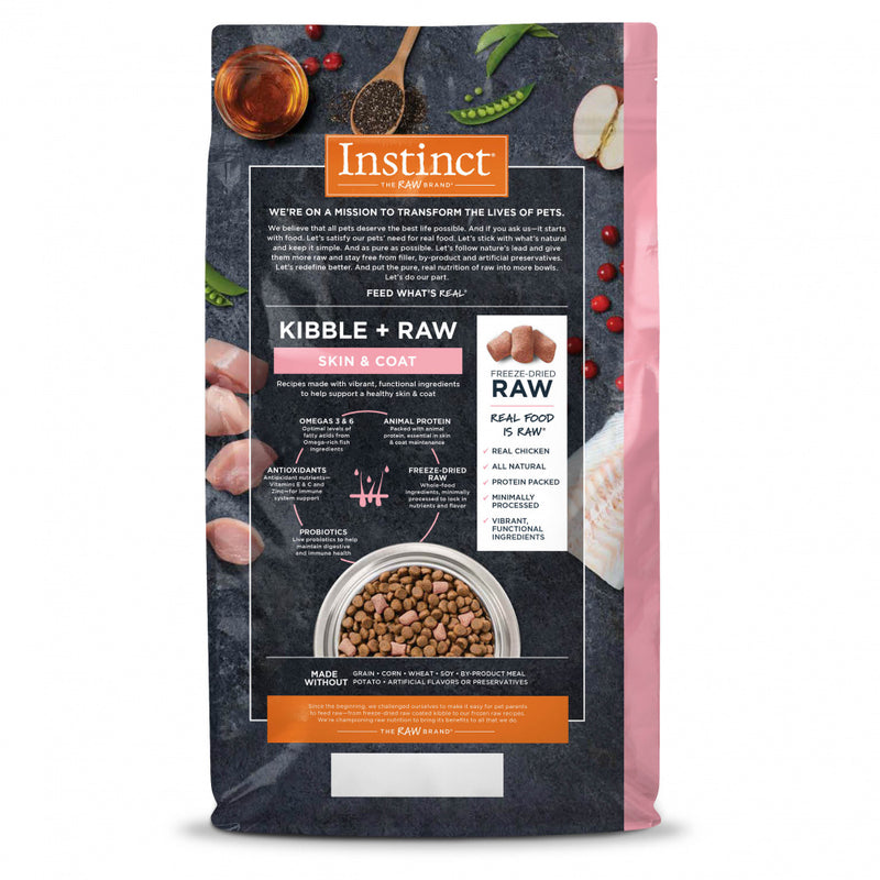 Nature's Variety Instinct Raw Boost Grain Free Skin & Coat Health Recipe with Real Chicken Dry Dog Food