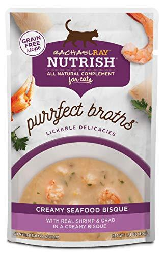Rachael Ray Nutrish Purrfect Broths Creamy Seafood Bisque Recipe Wet Cat Food Topper