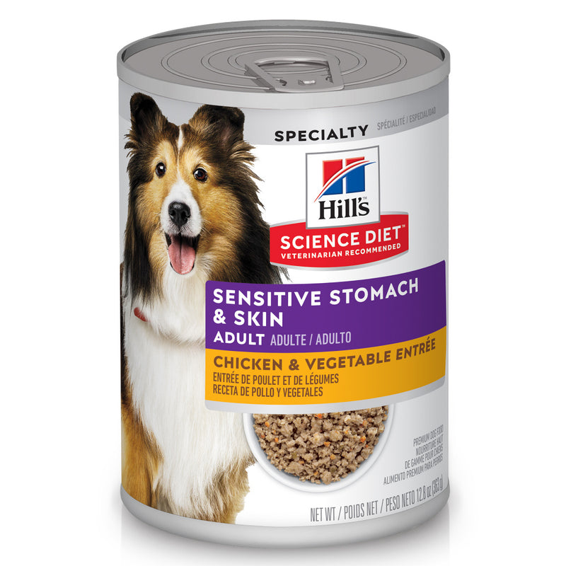 Hill's Science Diet Adult Sensitive Stomach & Skin Chicken & Vegetable Recipe Canned Dog Food
