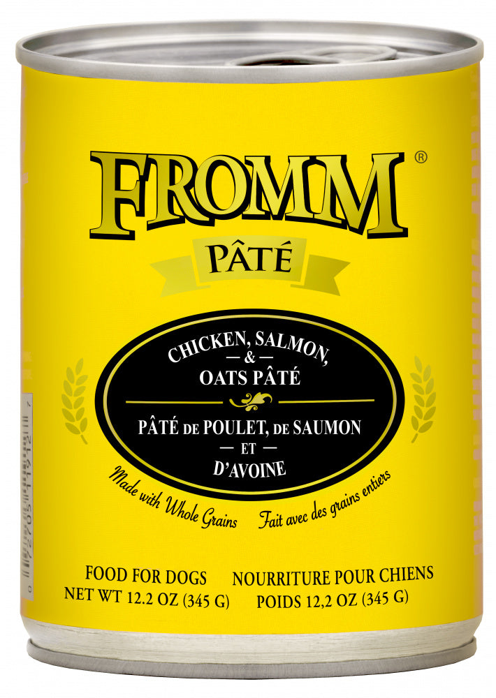 Fromm Whole Grain Salmon, Chicken & Oats Pate Canned Dog Food
