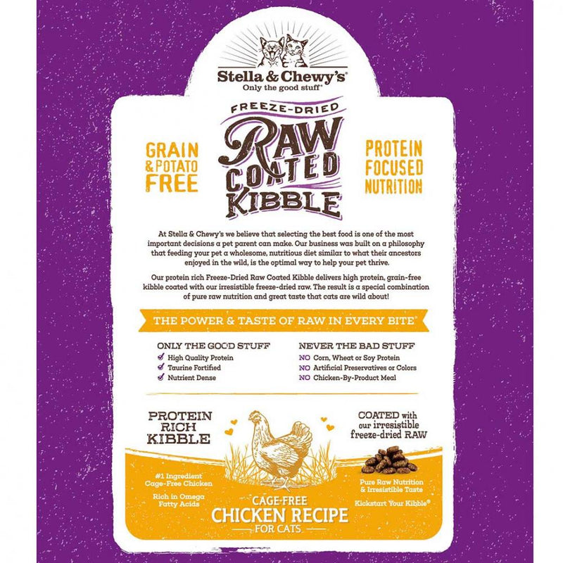 Stella & Chewy's Raw Coated Kibble Cage Free Chicken Recipe Dry Cat Food