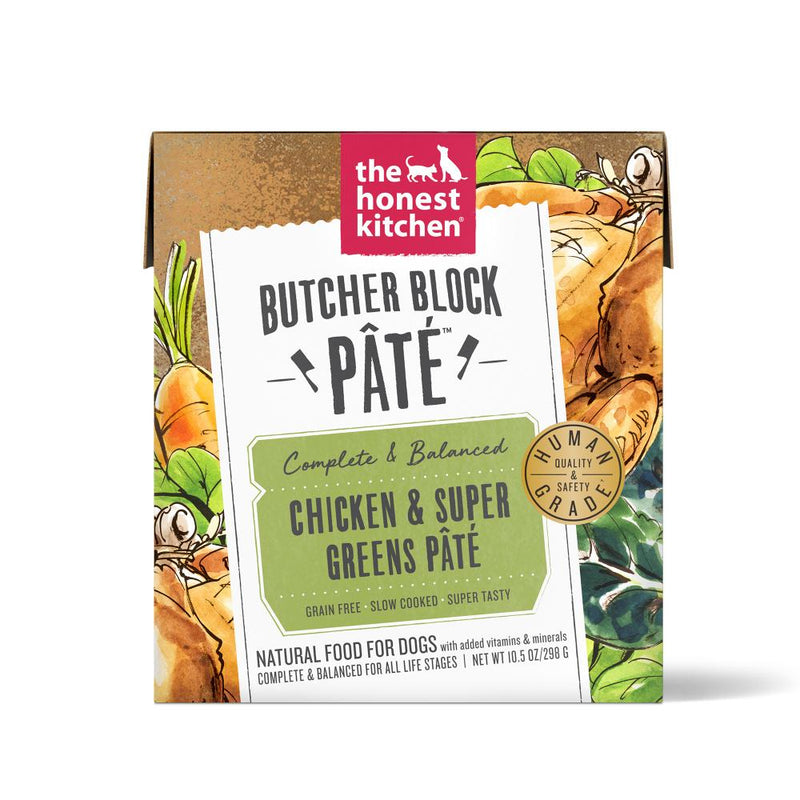 The Honest Kitchen Butcher Block Pate Chicken & Super Greens Grain Free Recipe for Dogs