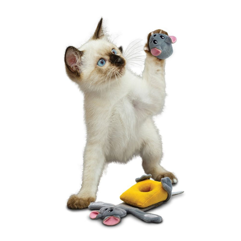 KONG Pull-A-Partz Cheezy Cat Toy