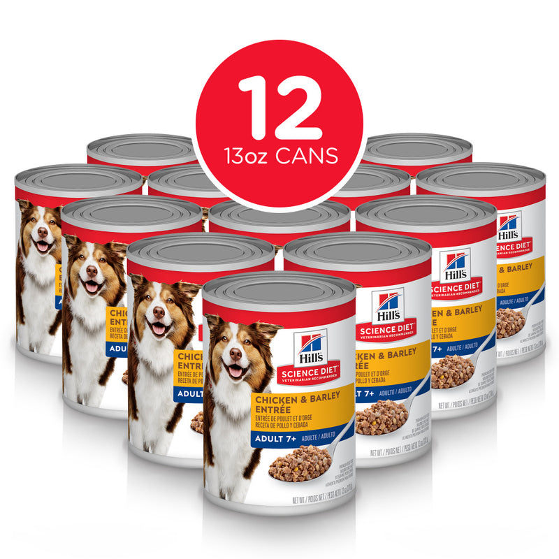 Hill's Science Diet Senior 7+ Chicken & Barley Entree Canned Dog Food