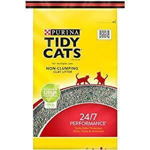 Purina Tidy Cats Non-Clumping Cat Litter 24/7 Performance for Multiple Cats 40 lb. Bag