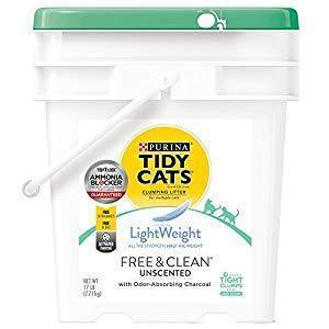 Purina Tidy Cats LightWeight Cat Litter Free & Clean with Ammonia Blocker