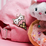 Ice Cream Cat enamel pin