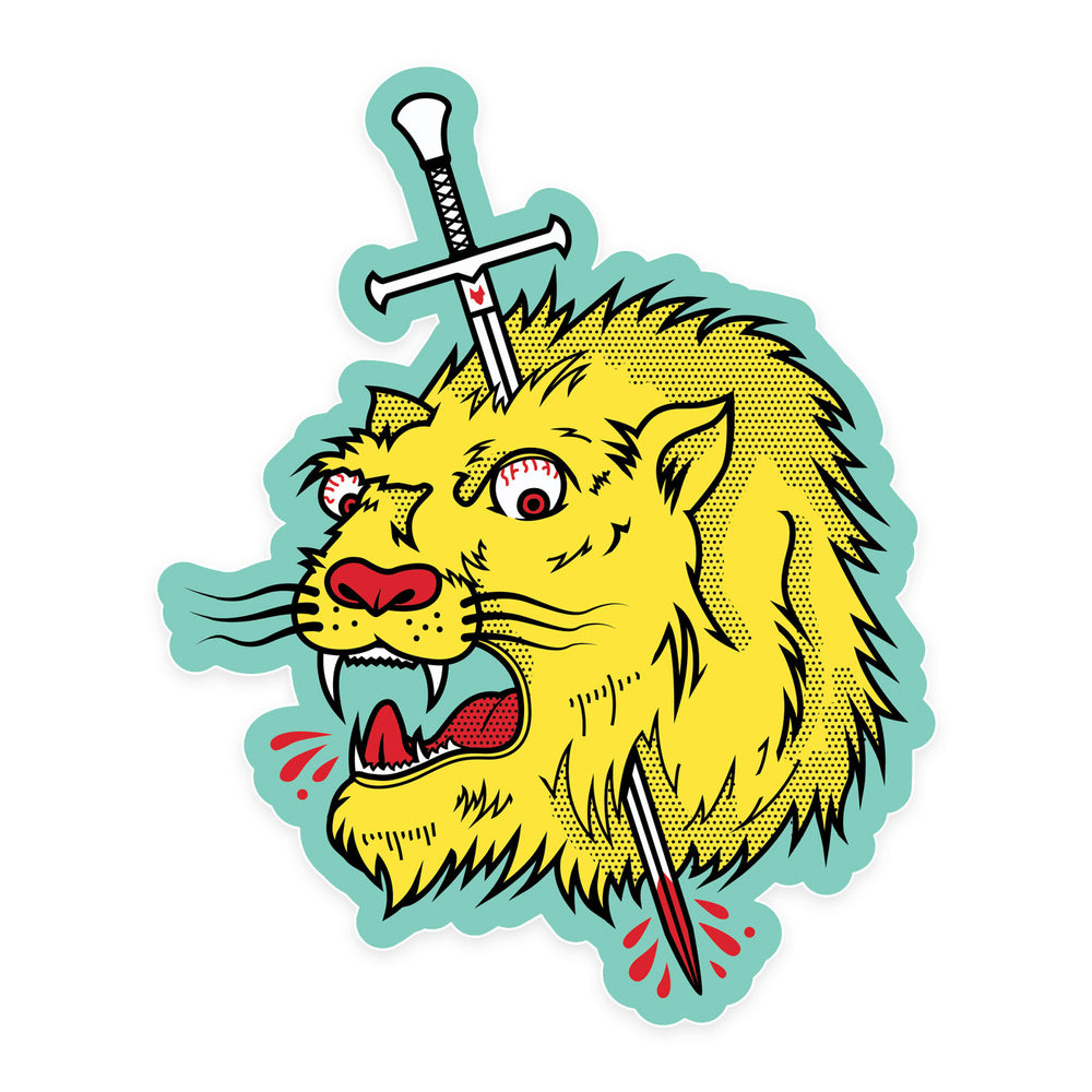 Needle Lion sticker