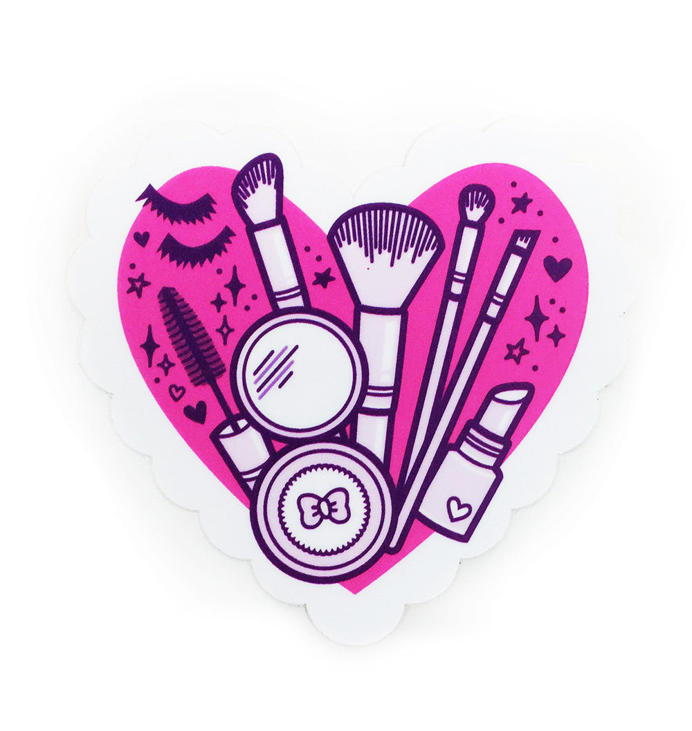 Makeup Heart sticker