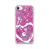 Makeup Heart (Pink) iPhone case